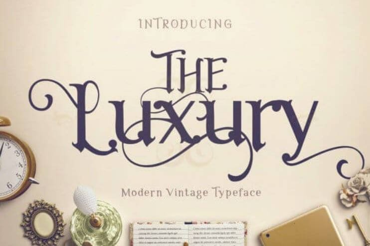 the luxury font - The Luxury Font Free Download