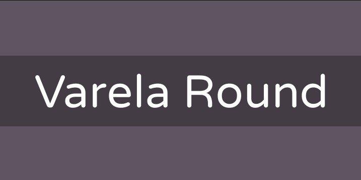 varela round font - Varela Round Font Free Download