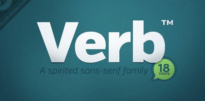 verb font - Verb Font Free Download