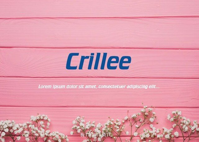 Crillee Font
