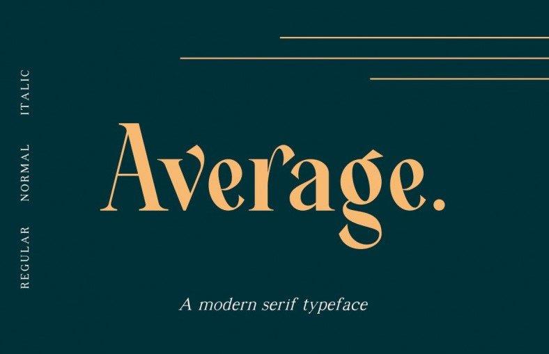 average font - Average Font Free Download