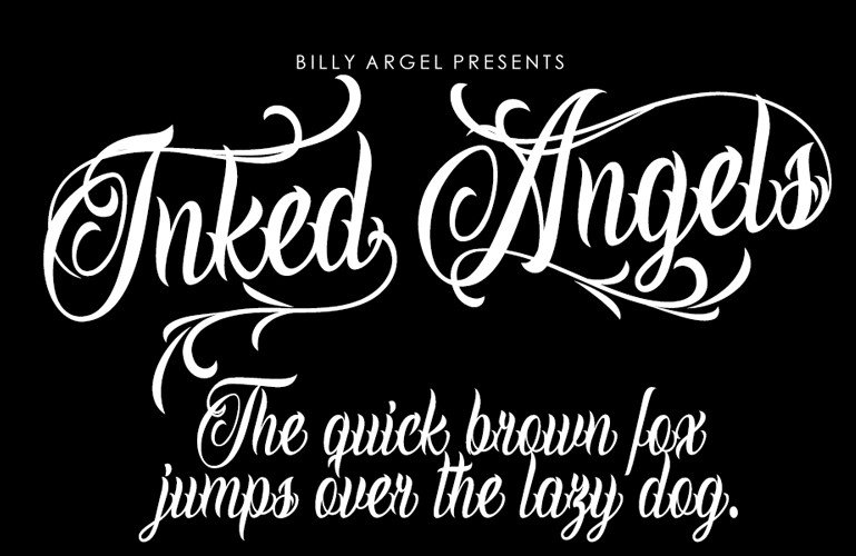 inked angel font - Inked Angels Font Free Download