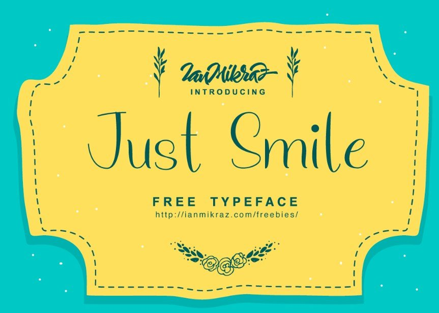 just smile - Just Smile Typeface Free Download