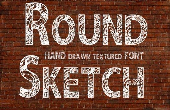round font - Round Sketch Font Free Download