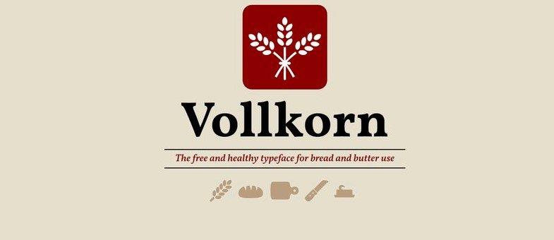 volkron - Vollkorn Font Free Download