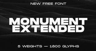 Monument 310x165 - Monument Extended Font Free Download