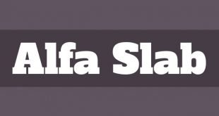 alfa slab font 310x165 - Alfa Slab One Font Free Download