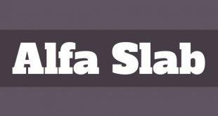 alfa slab font 310x165 - Alfa Slab One Font Free Download