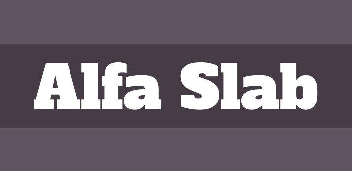 alfa slab font - Alfa Slab One Font Free Download