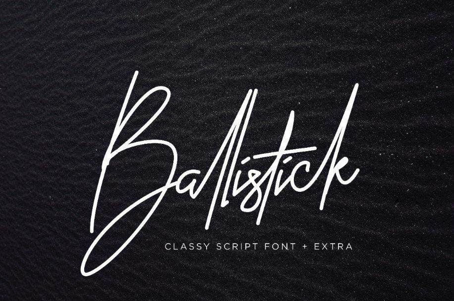 ballisticks - Ballistick Signature Font Free Download
