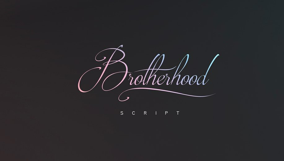 brotherhood - Brotherhood Script Font Free Download