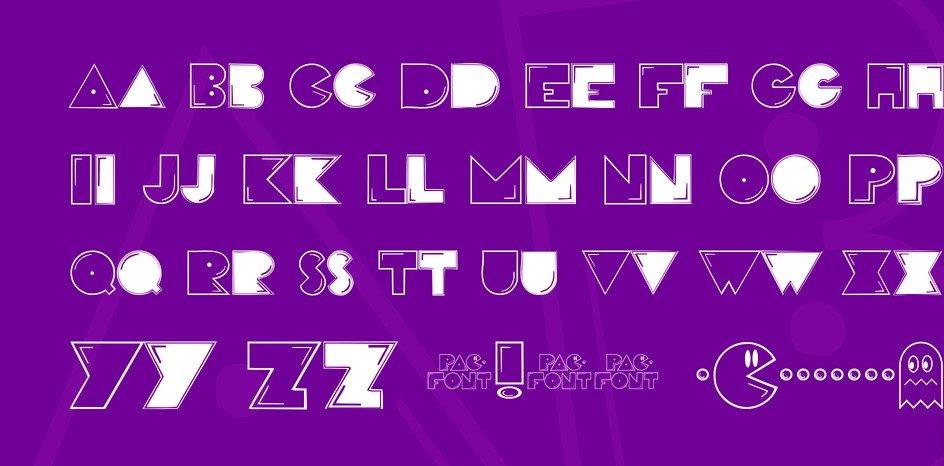 pac font - Pac Font Free Download