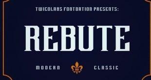 rebute font 310x165 - Rebute Typeface Free Download