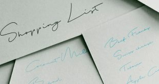 shopping list font 310x165 - Shopping List Font Free Download