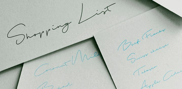 shopping list font - Shopping List Font Free Download