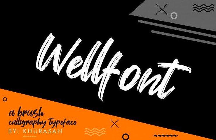 wellfont - Wellfont Brush Font Free Download