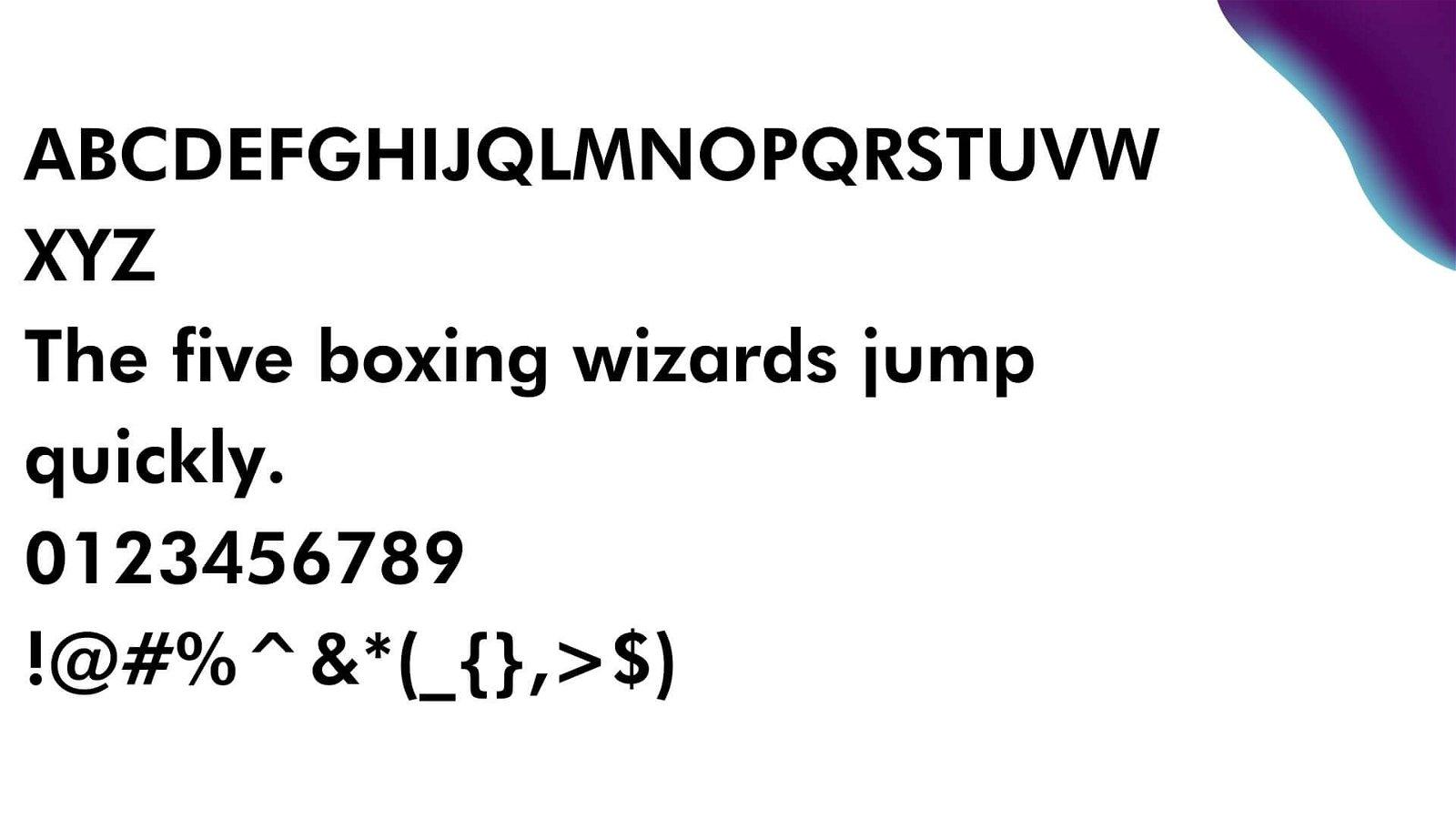 Futura Font View