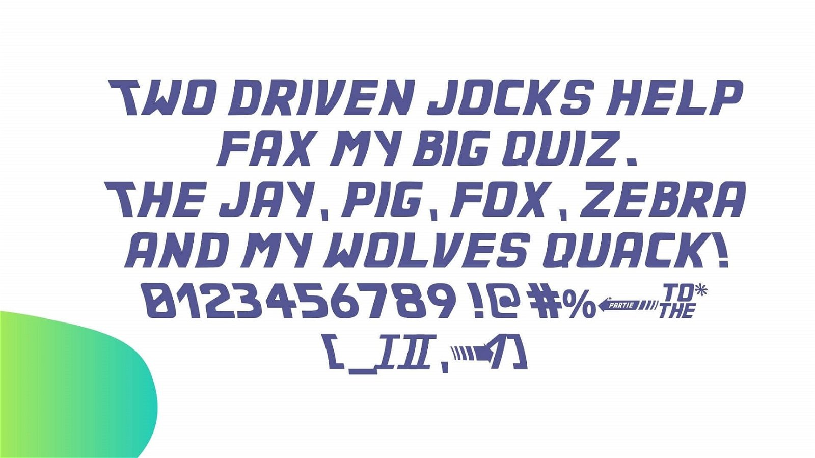 Back to the Future Font View