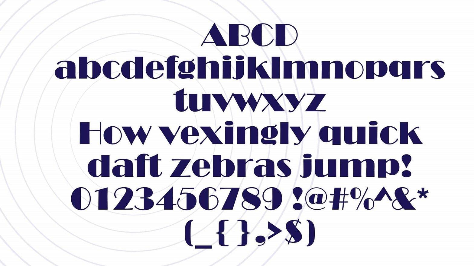 Broadway Font View