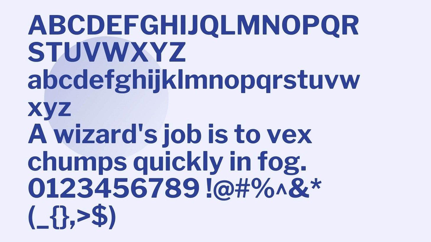 Calibri Font View