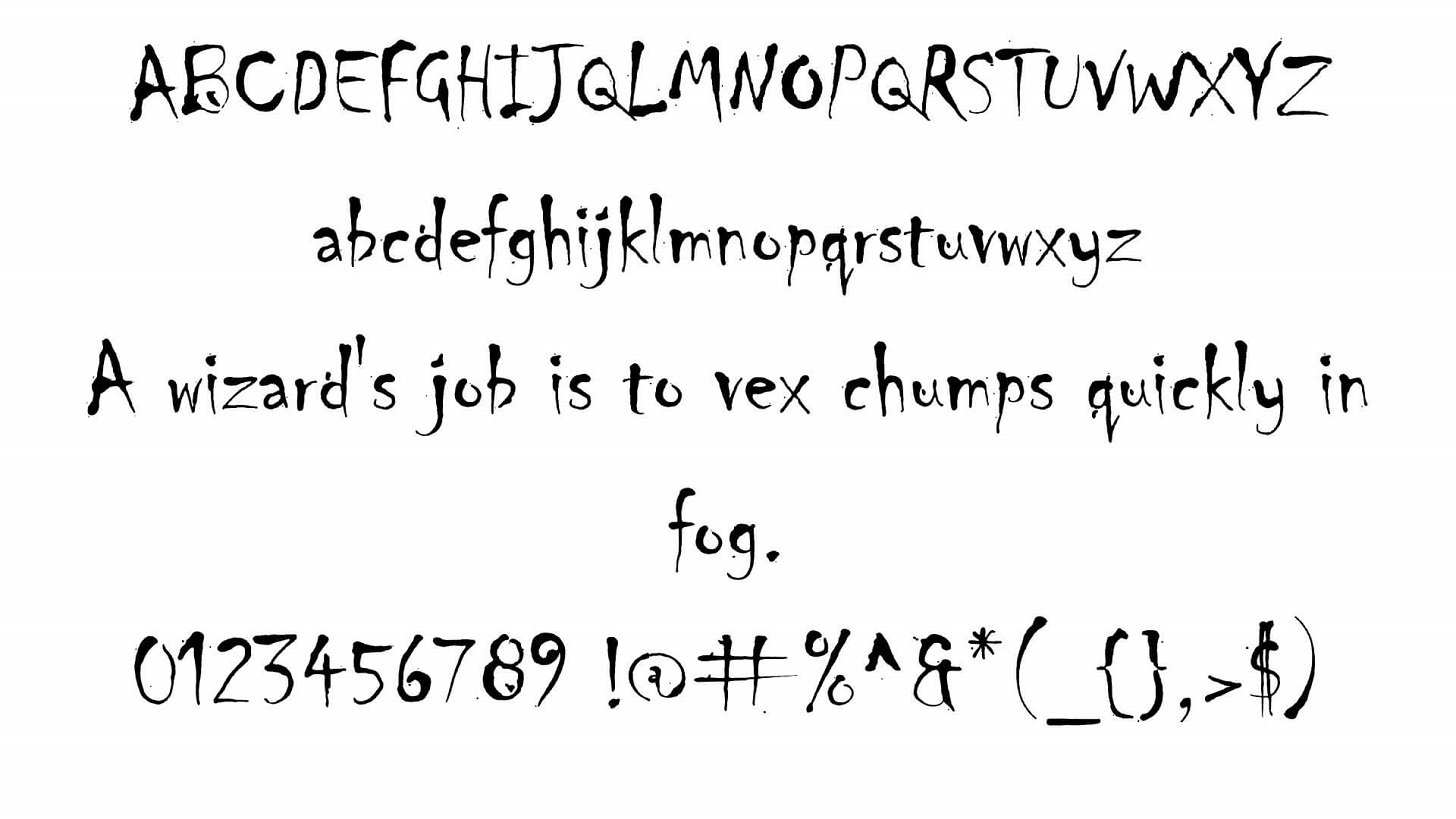 Chiller Font View