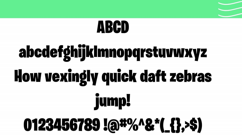 Fortnite Font View