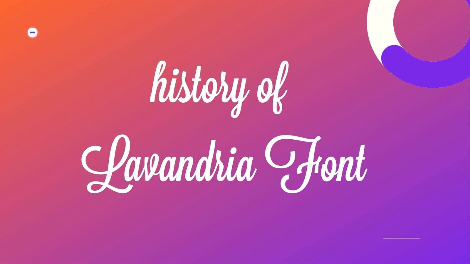 History Of Lavanderia Font