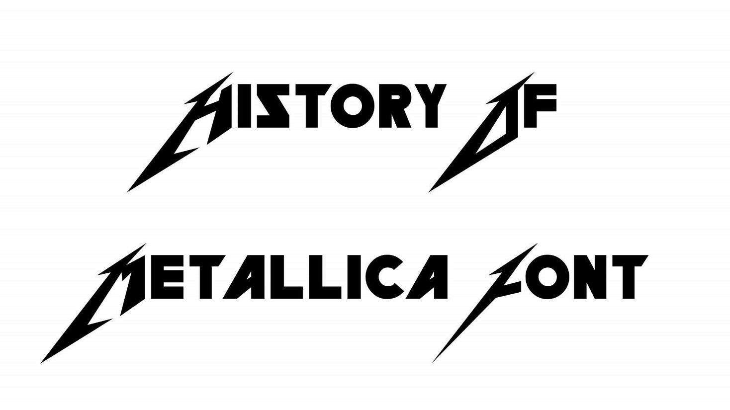 History of Metallica Font