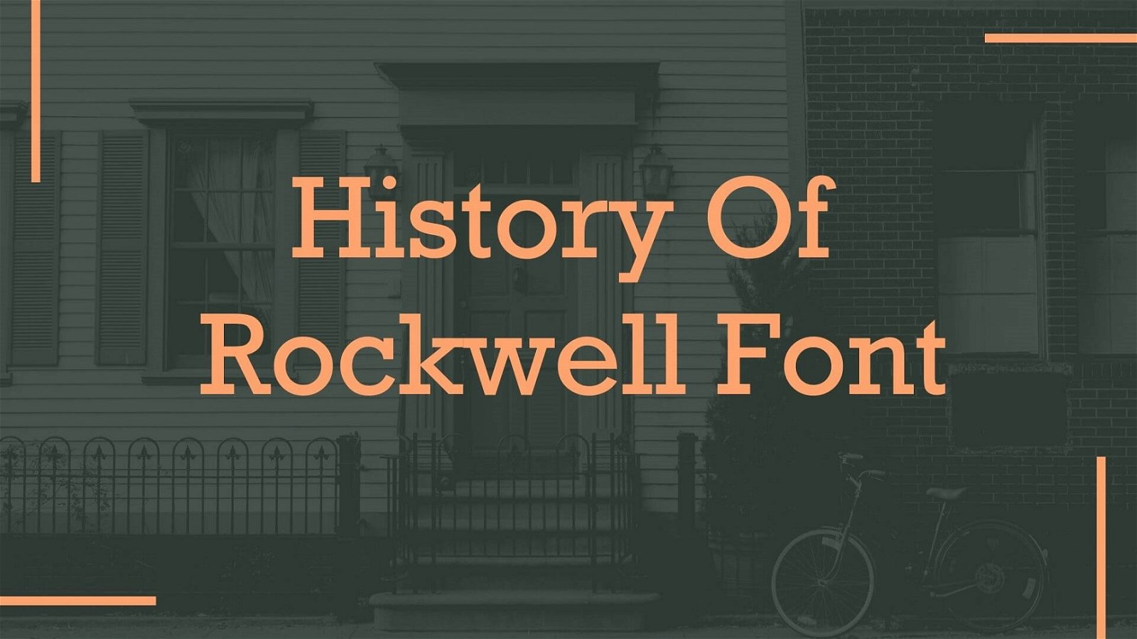 History of Rockwell Font