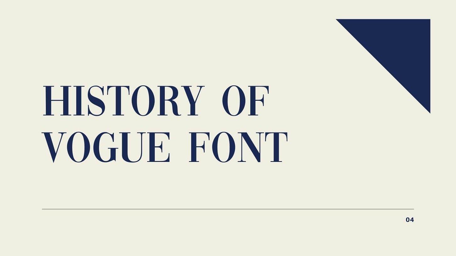 History of Vogue Font