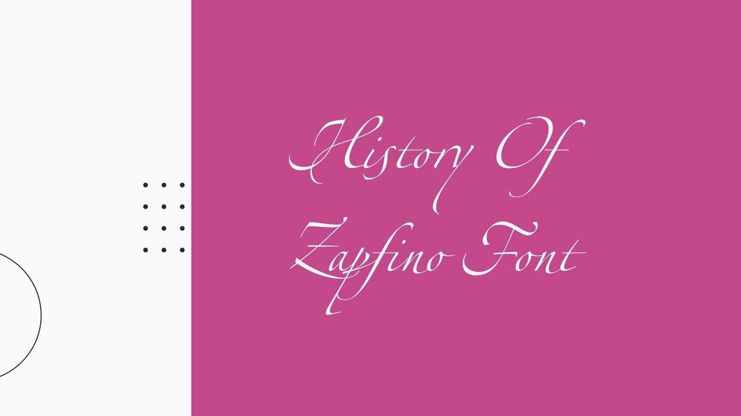 History of Zapfino Font