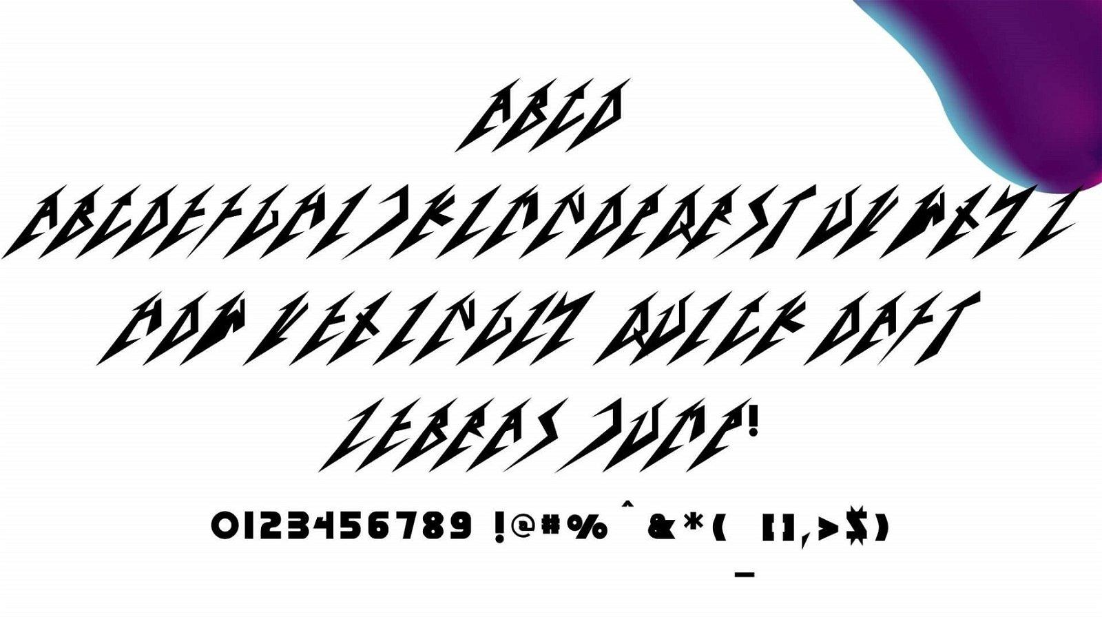 Metallica Font View