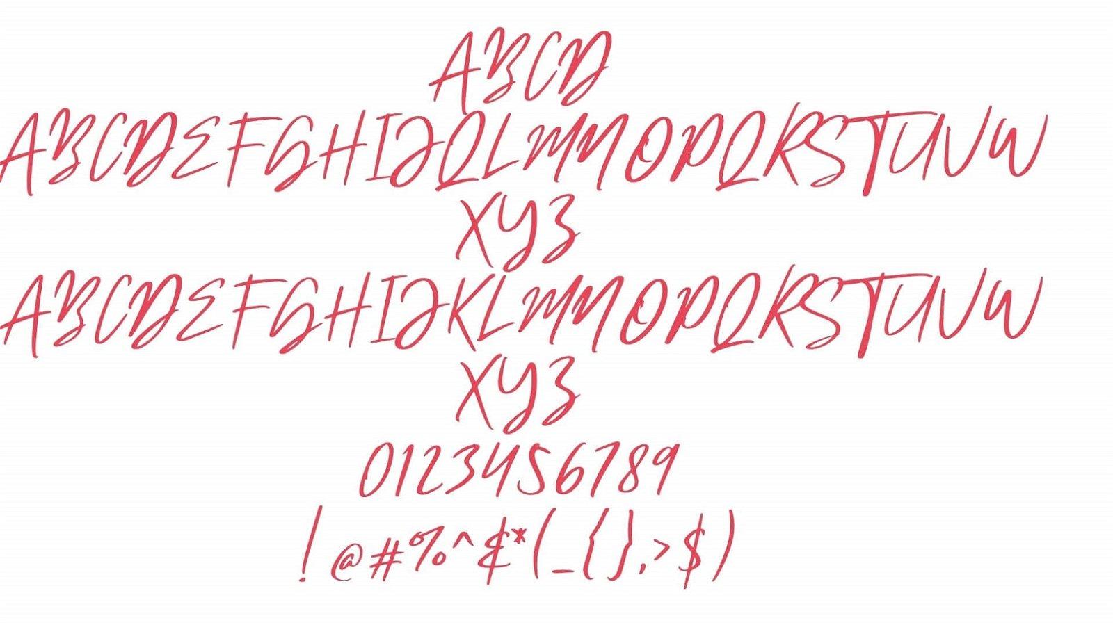 Mistral Font View