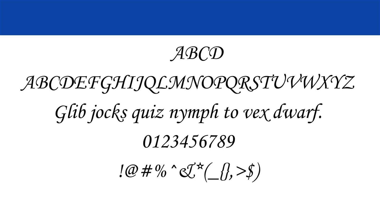 Monotype Corsiva Font View