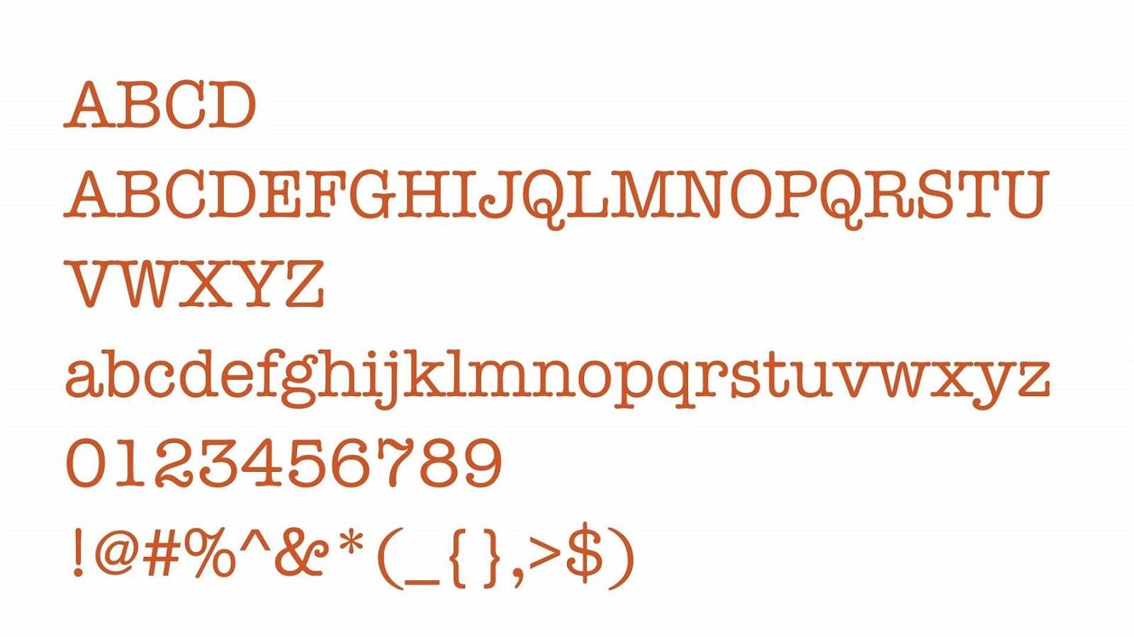 American Typewriter Font View