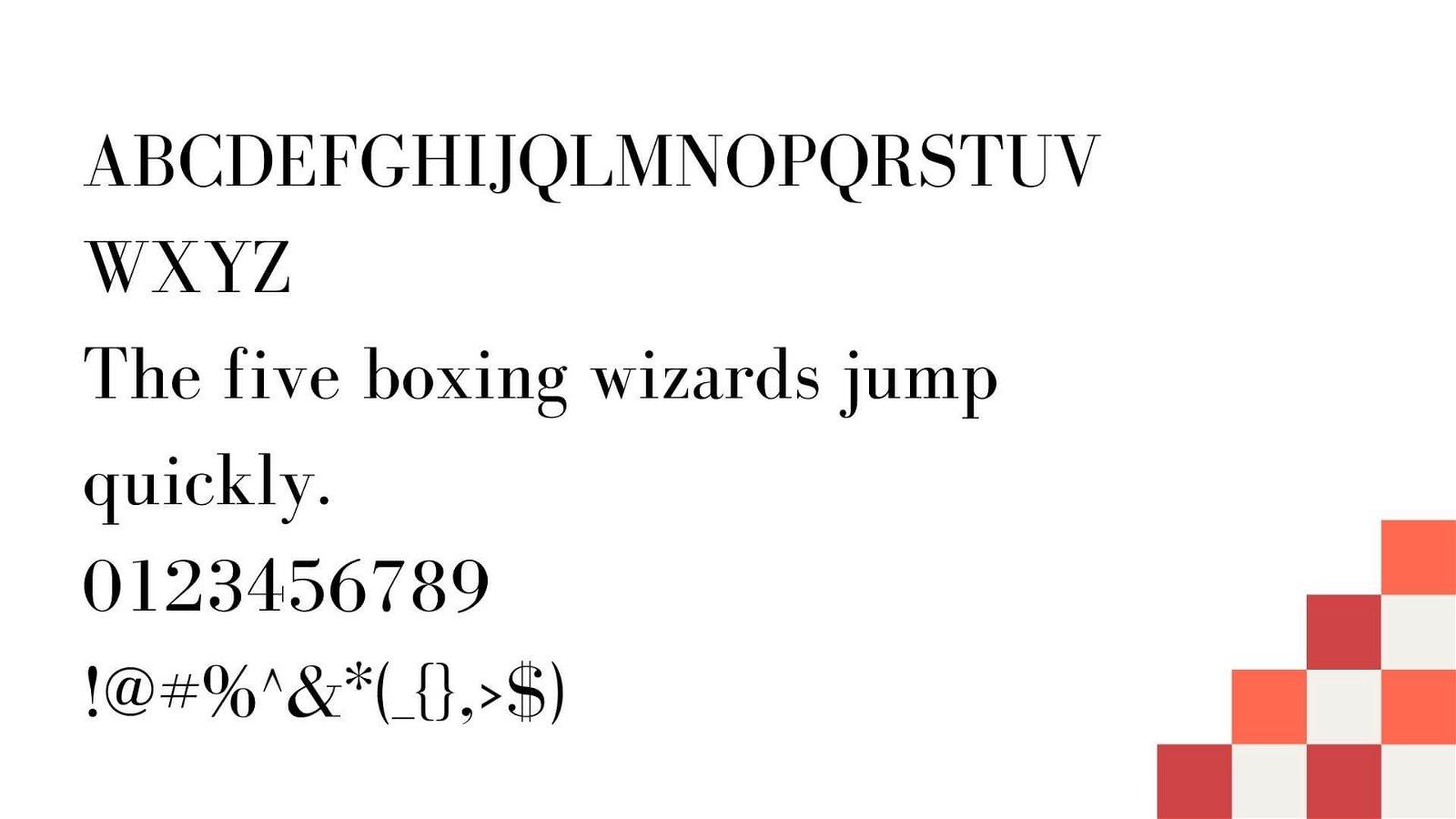 Bodoni Font View