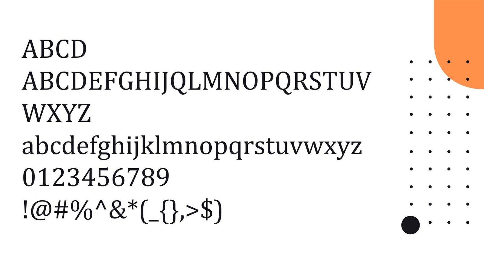 Cambria Font View