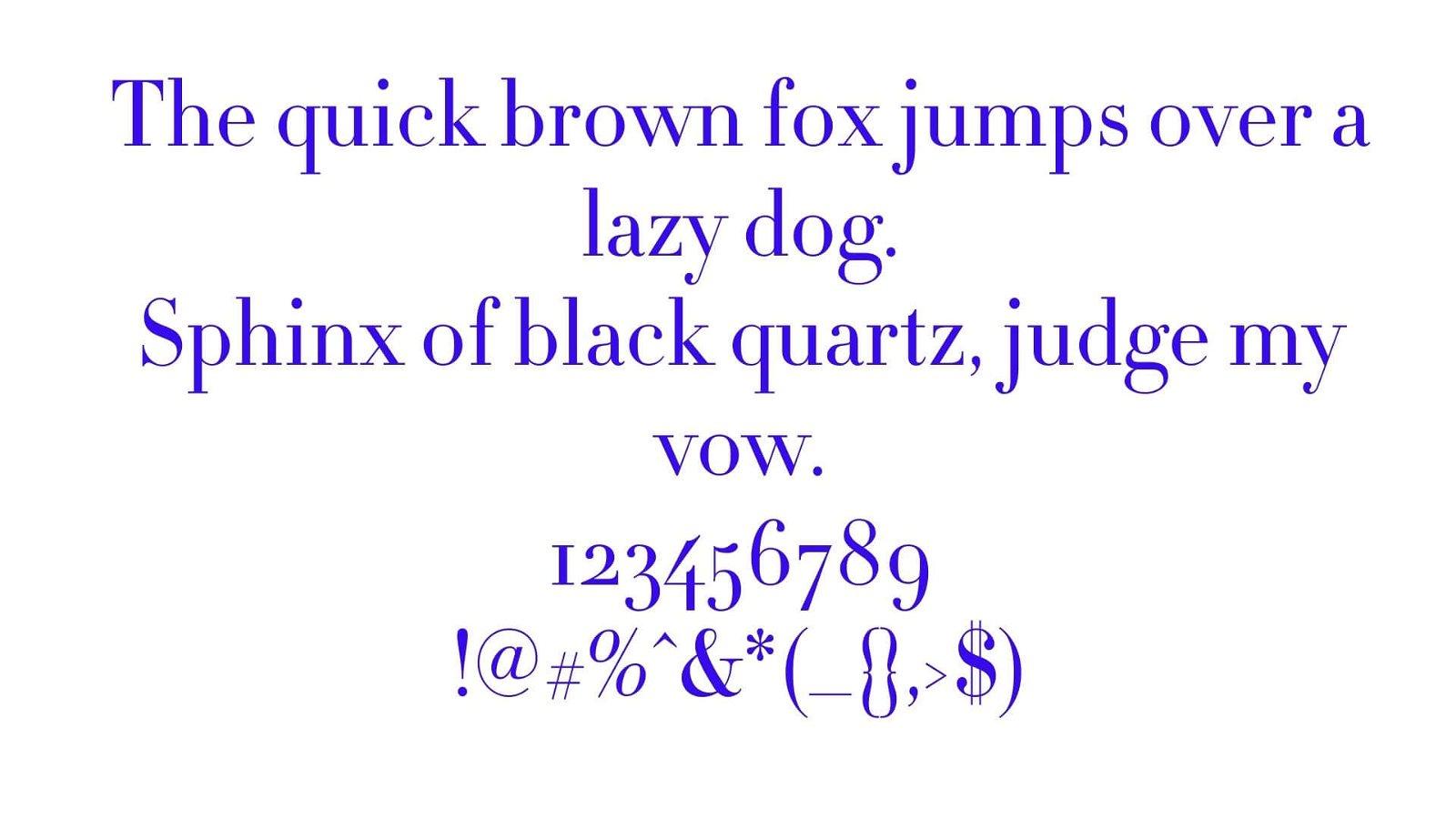 Didot Font View
