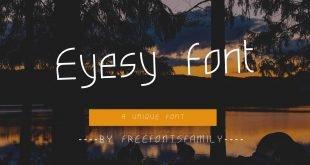 Eyesy Font 310x165 - Eyesy Font Free Download