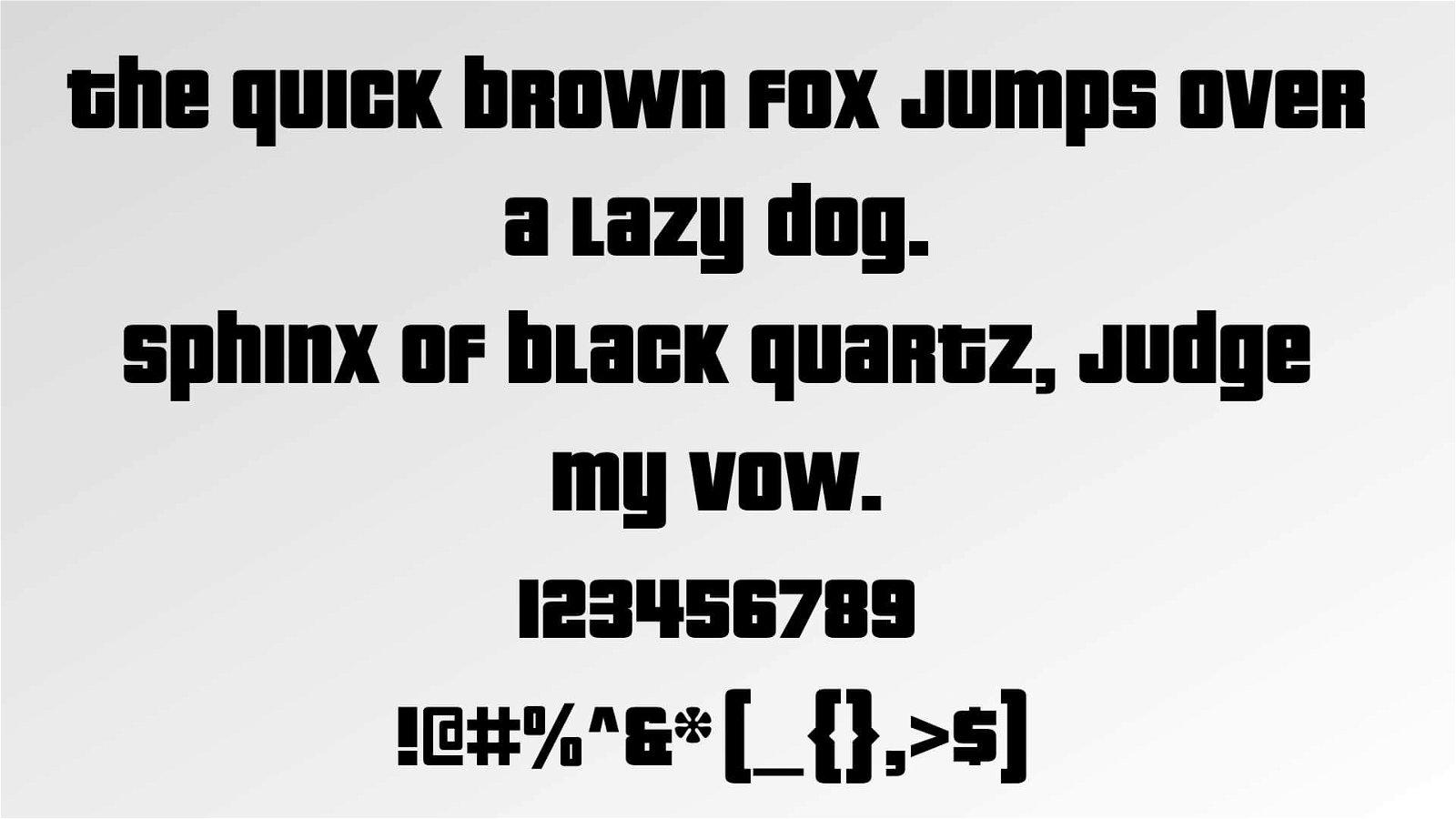 GTA Font View