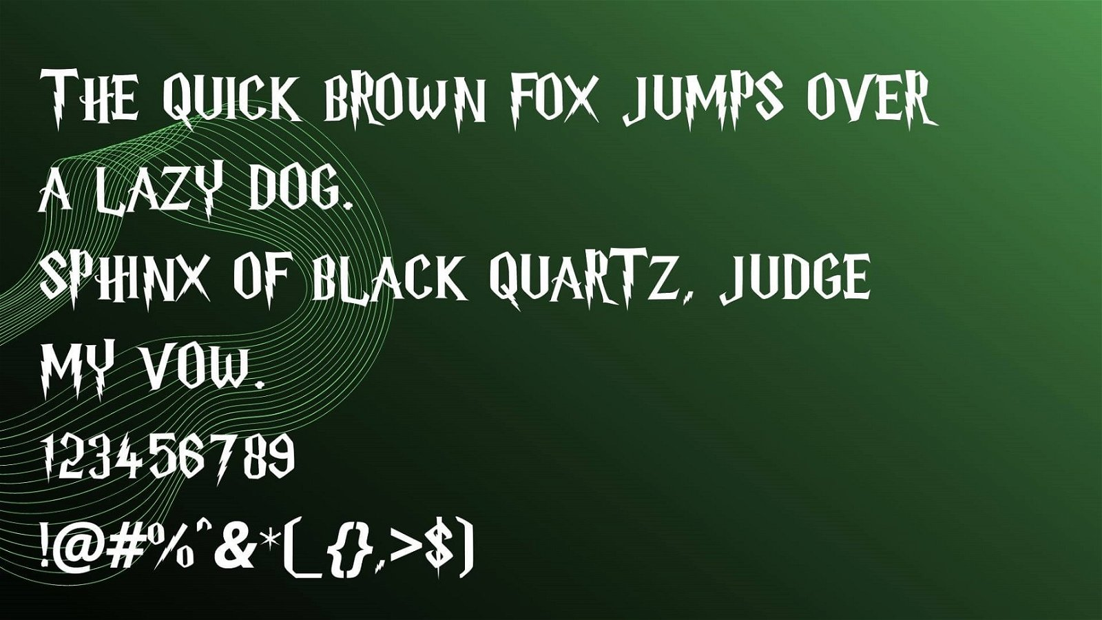 Harry Porter Font VIew