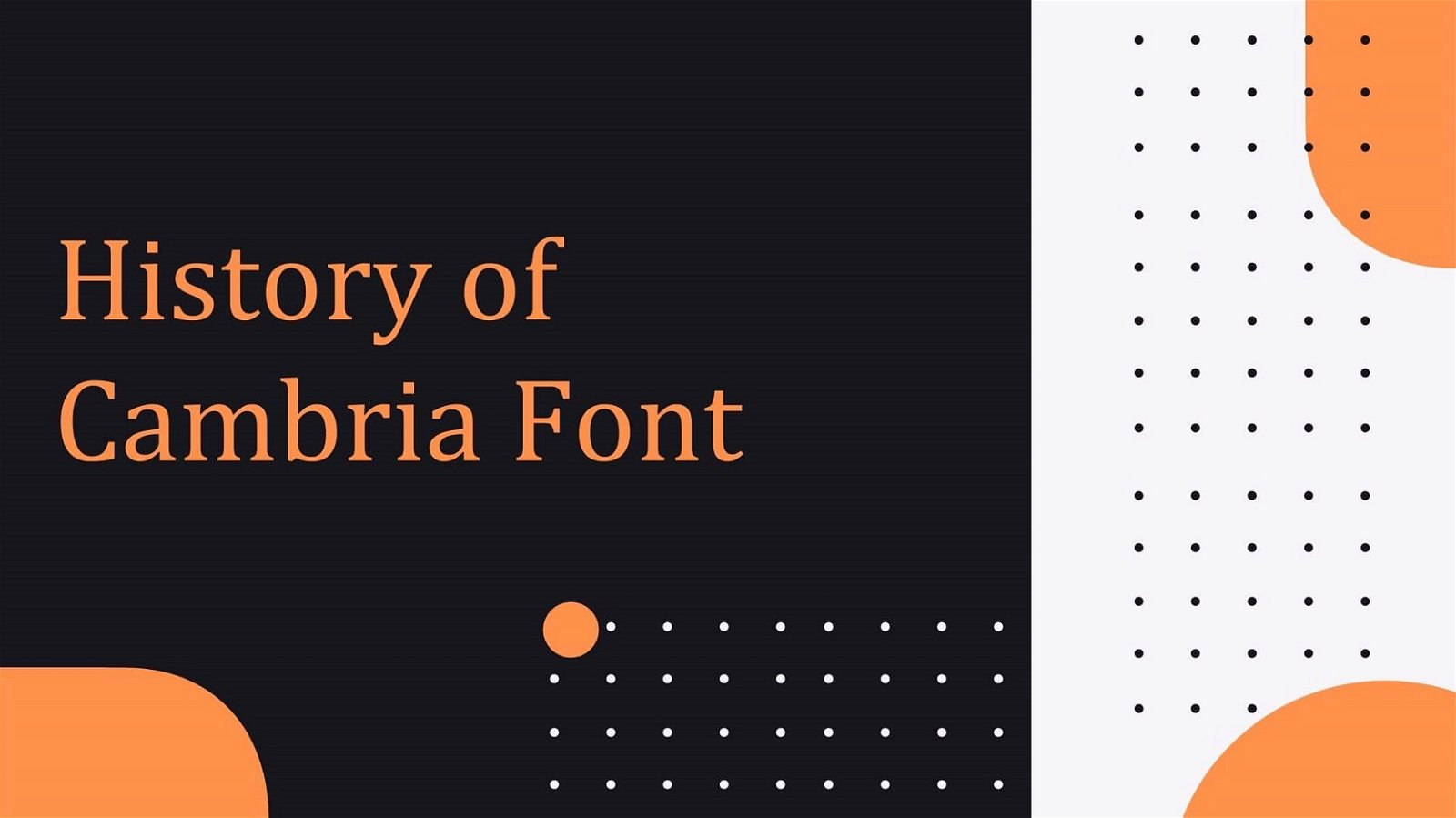 History of Cambria Font