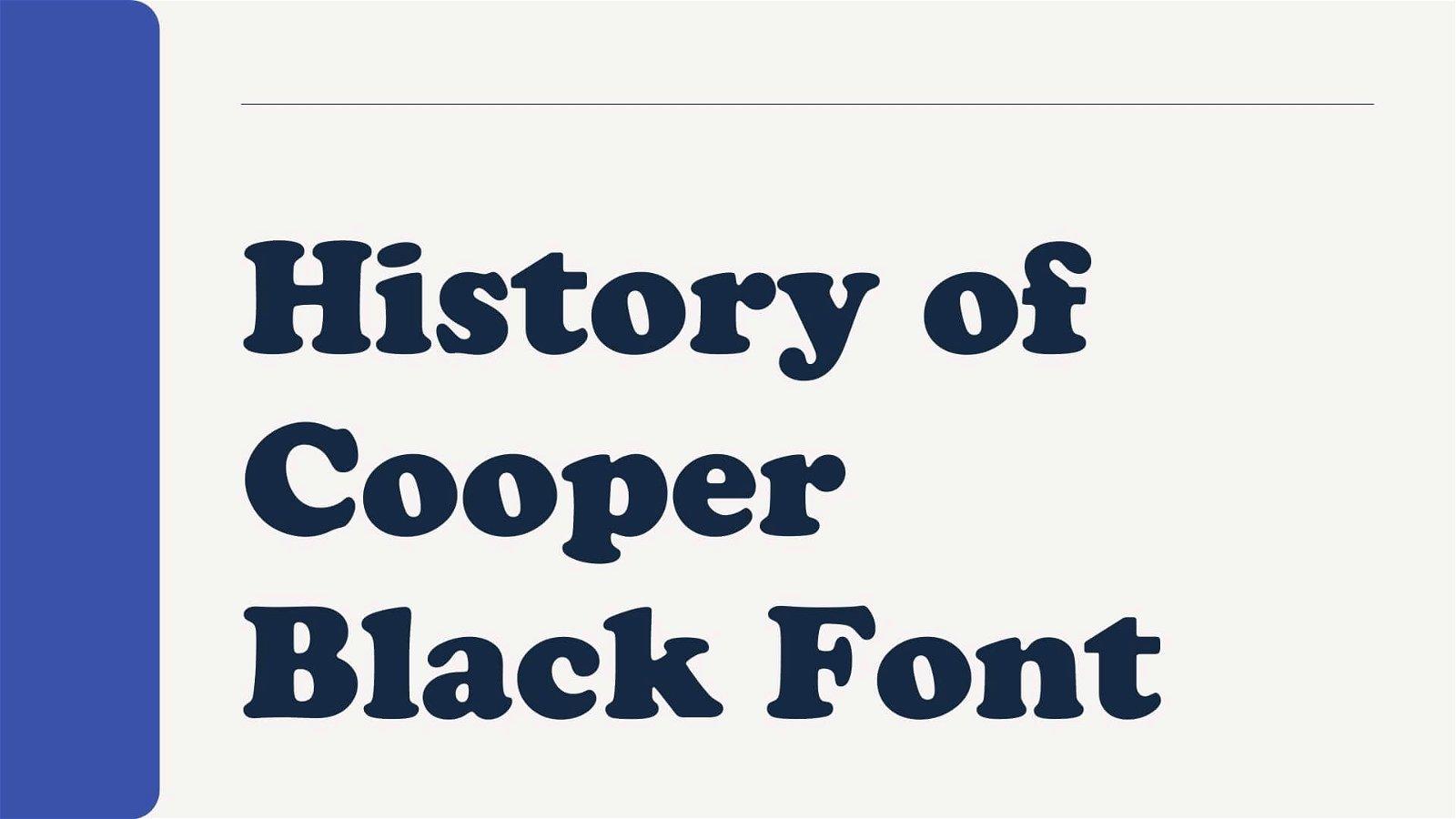 History of Cooper Black Font