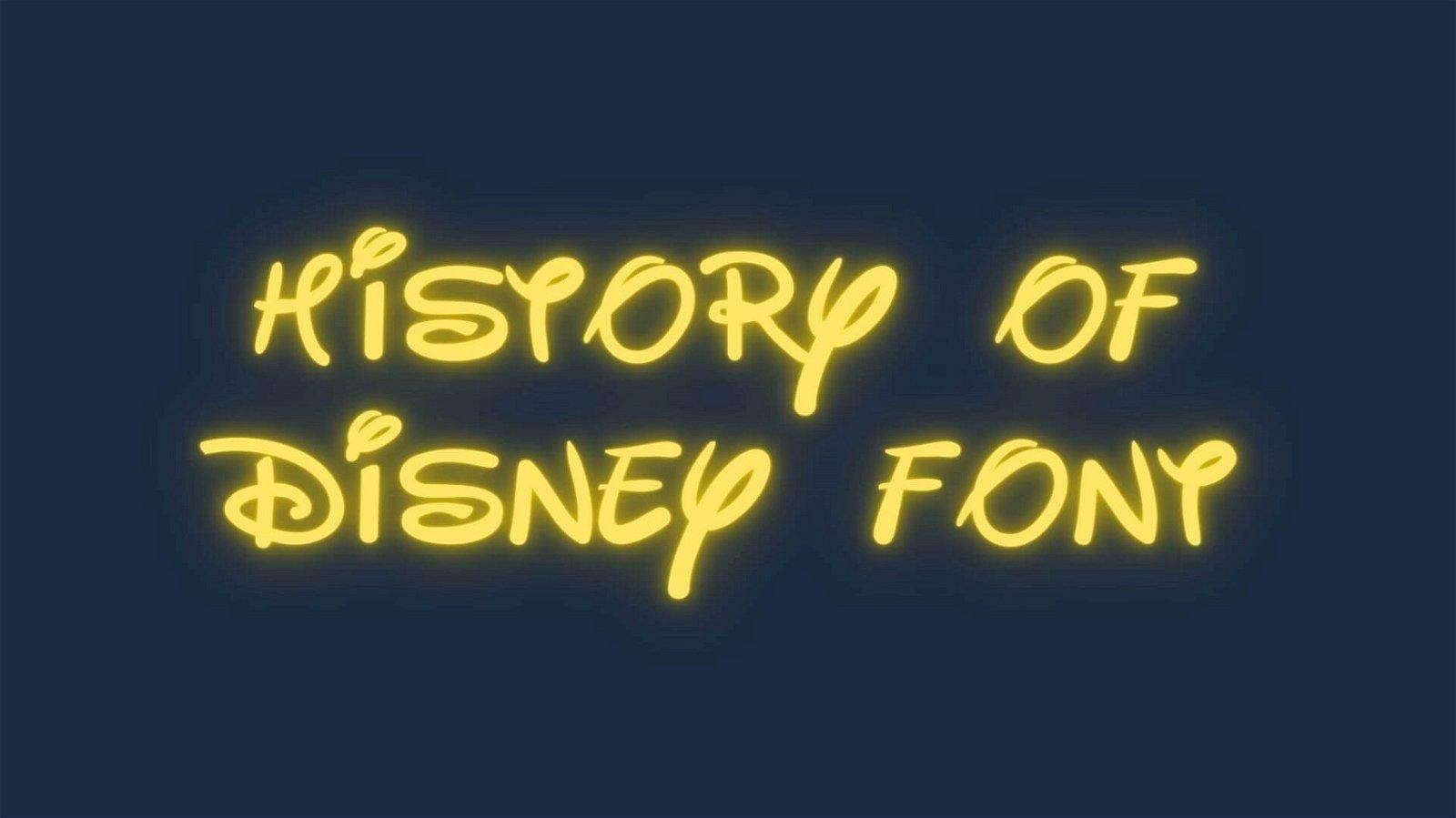 History of Disney Font