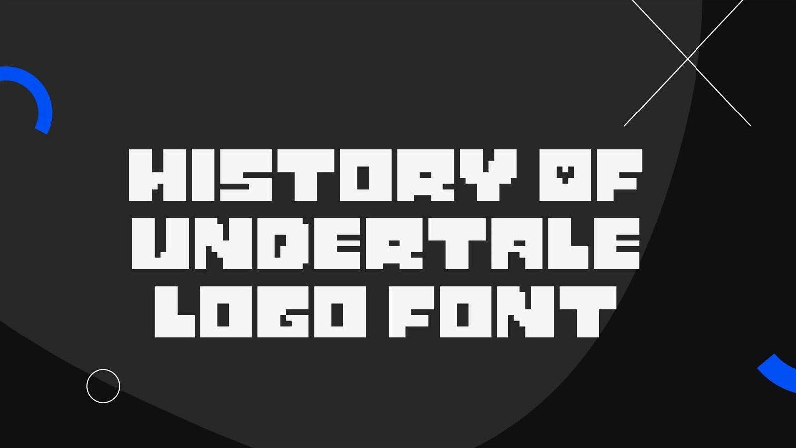 History of Undertale Logo Font