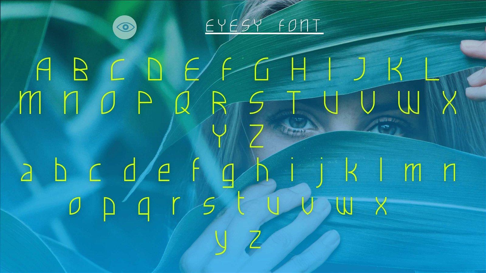 View of Eyesy - Eyesy Font Free Download