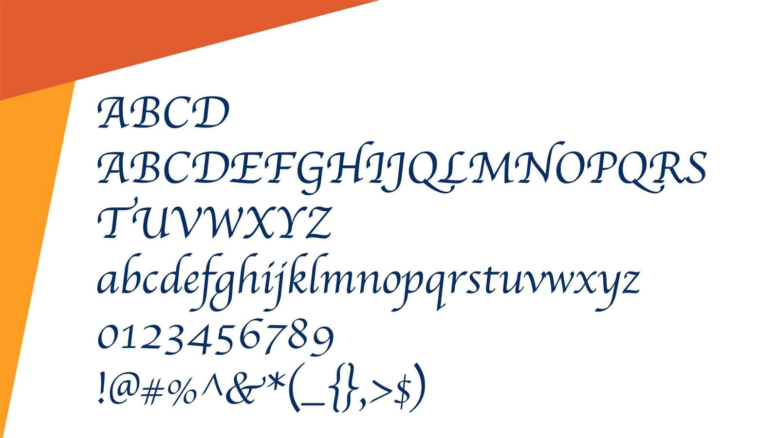 Apple Chancery Font View