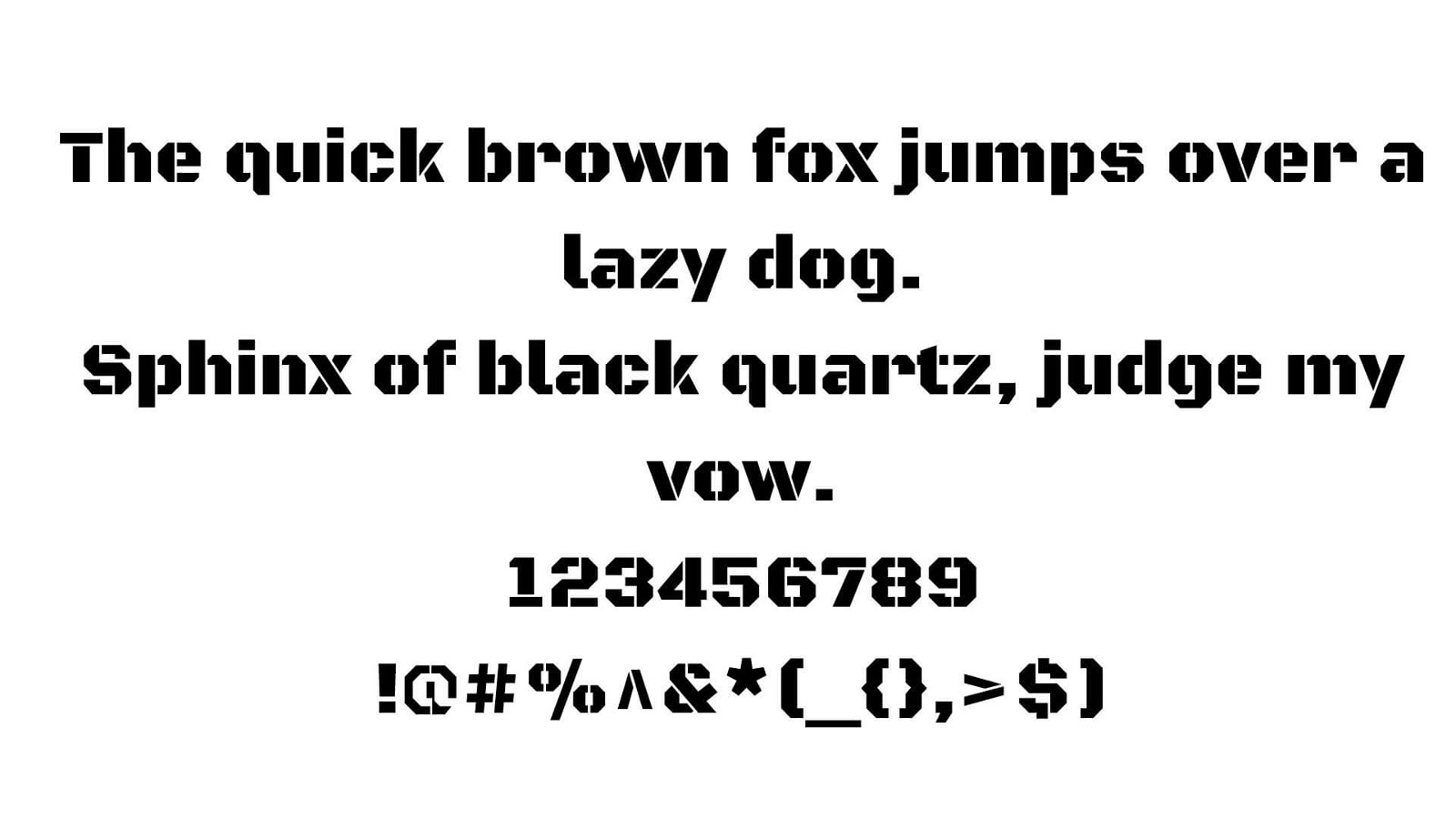Army Font View