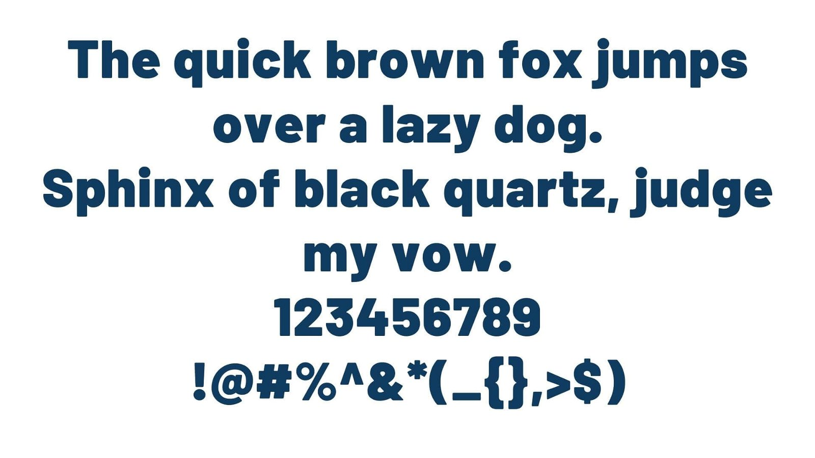 Barlow Font View