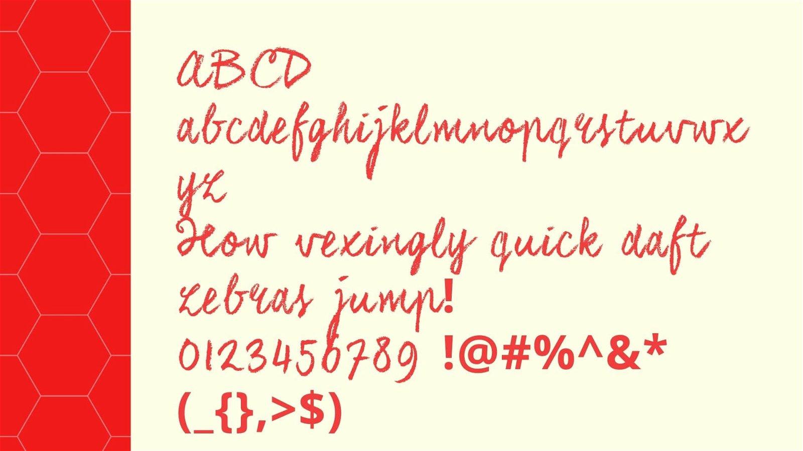 Chalk Font View